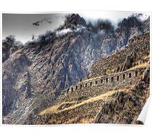 Ruins in the Clouds - Ollantaytambo, Peru Poster