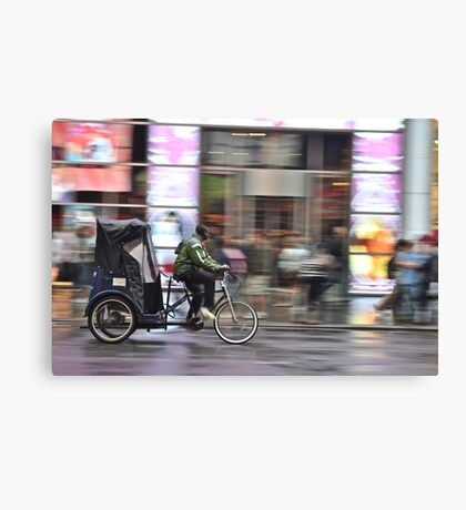 A Tricycle In NYC Canvas Print