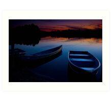 Summer on the lake Art Print