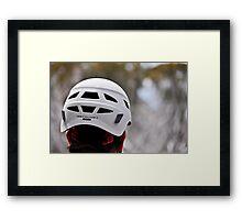 Met Helmet Framed Print