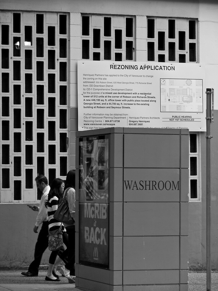 McRib is back at the washroom for a rezoning application. by Gabriele Maurus