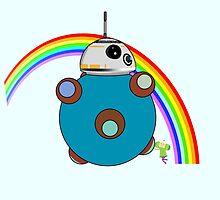 Royal Rainbow BB-8 by Artegan