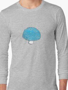 Blue Mushroom Shroom Fungus Long Sleeve T-Shirt