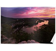 Harpers Ferry Sunset 3 - Harpers Ferry, WV Poster