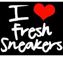 I Love Fresh Sneakers Photographic Print