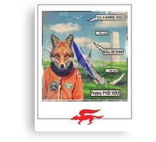 fox roll Canvas Print