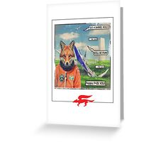 fox roll Greeting Card