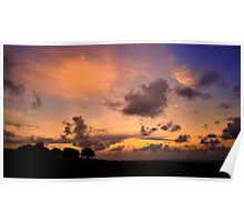 South Downs Sunset Poster