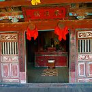 Temple, covered Japanese Bridge, Hoi An, Vietnam by John Mitchell
