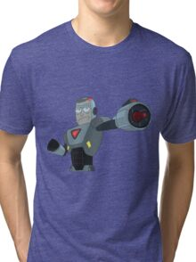 Rick and Morty: Armored Rick Tri-blend T-Shirt