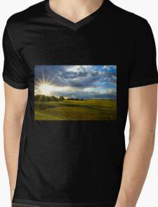 Fields of Light Mens V-Neck T-Shirt
