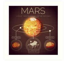 Planet Mars Infographic NASA Art Print