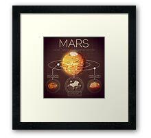 Planet Mars Infographic NASA Framed Print