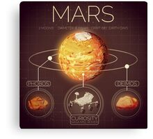 Planet Mars Infographic NASA Canvas Print