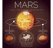 Planet Mars Infographic NASA Photographic Print