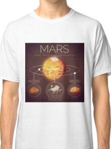 Planet Mars Infographic NASA Classic T-Shirt