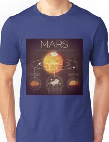 Planet Mars Infographic NASA Unisex T-Shirt