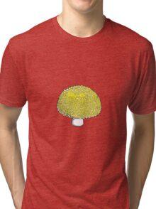 Sunshine Yellow Mushroom, Shroom, Fungus Tri-blend T-Shirt