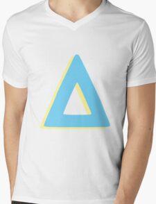 pastel triangle Mens V-Neck T-Shirt