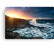 Break through-crowdy head-nsw mid north coast Canvas Print