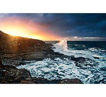 Break through-crowdy head-nsw mid north coast Photographic Print