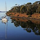 Dunally Yacht Reflection by Damon Colbeck