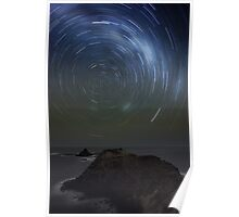 Pyramid Rock Startrails Poster