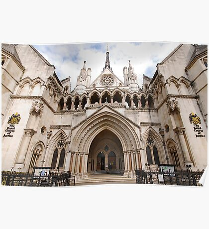 The Royal Courts of Justice Poster