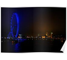 London Eye and The Houses of Parliament Poster