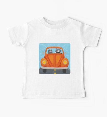 Orange Road Trip Cats Kids Clothes