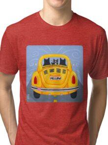 Yellow Road Trip Cats Tri-blend T-Shirt