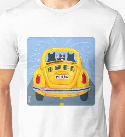 Yellow Road Trip Cats T-Shirt
