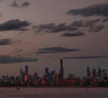 Melbourne City Skyline by 104paul