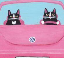 Pink Cat Road Trip Sticker