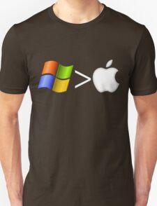 PC greater than Mac Unisex T-Shirt