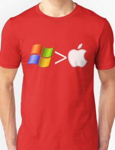 PC greater than Mac T-Shirt