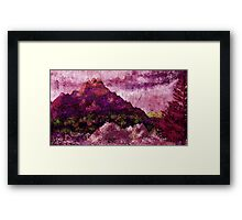 Among Wild Mountains Framed Print