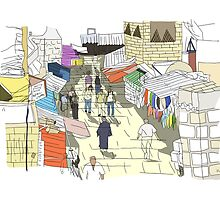 Muslim Quarter, Jerusalem by Steve Wiltshire