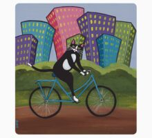 Bicycle Cat One Piece - Long Sleeve