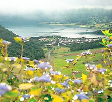 View of Sete Cidades crater by Gaspar Avila