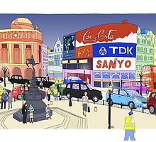 Piccadilly Circus, London, UK by Steve Wiltshire