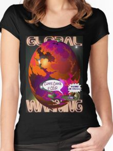 Climate Change Is Crap T-shirt Design Women's Fitted Scoop T-Shirt