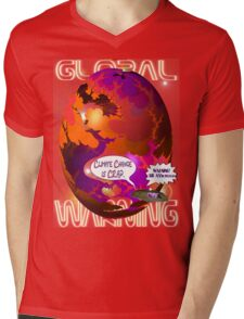 Climate Change Is Crap T-shirt Design Mens V-Neck T-Shirt