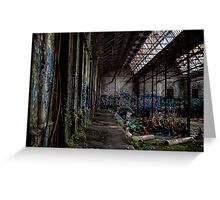 Rozelle Tram Depot - Stacked Chairs Greeting Card