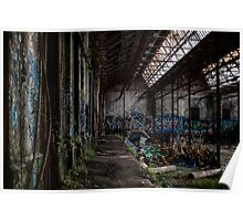 Rozelle Tram Depot - Stacked Chairs Poster
