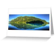 Lungerersee 24 shot HDR Panorama Greeting Card