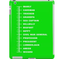 Chart Beard Length iPad Case/Skin