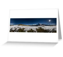 Eiger North face  Greeting Card