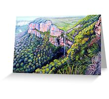 Bridal Veil Falls, Blue Mountains Greeting Card
