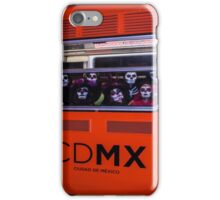 La Catrina Viaja en Metro CDMX 2151 iPhone Case/Skin